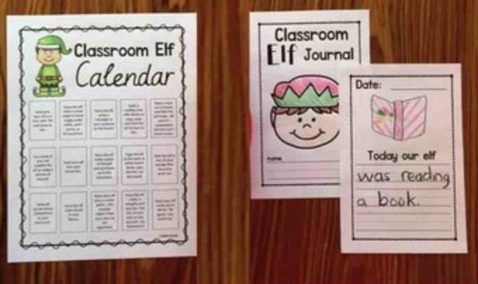Editable Elf Calendar and Journal.  This will make your life so much easier and turn your classroom elf into a fun writing experience for your students.  Perfect for kindergarten and first grades from Simply Kinder.