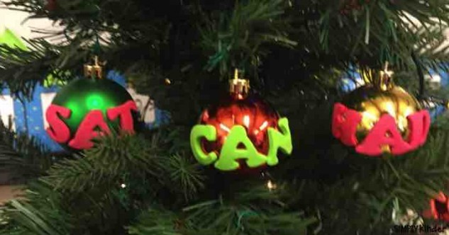 Ornament Sight Word Center