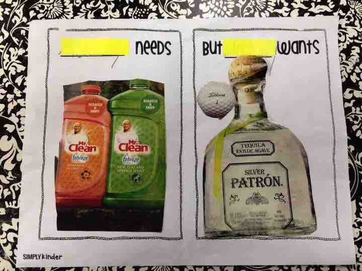 A unit on needs and wants. Some humor from the classroom!