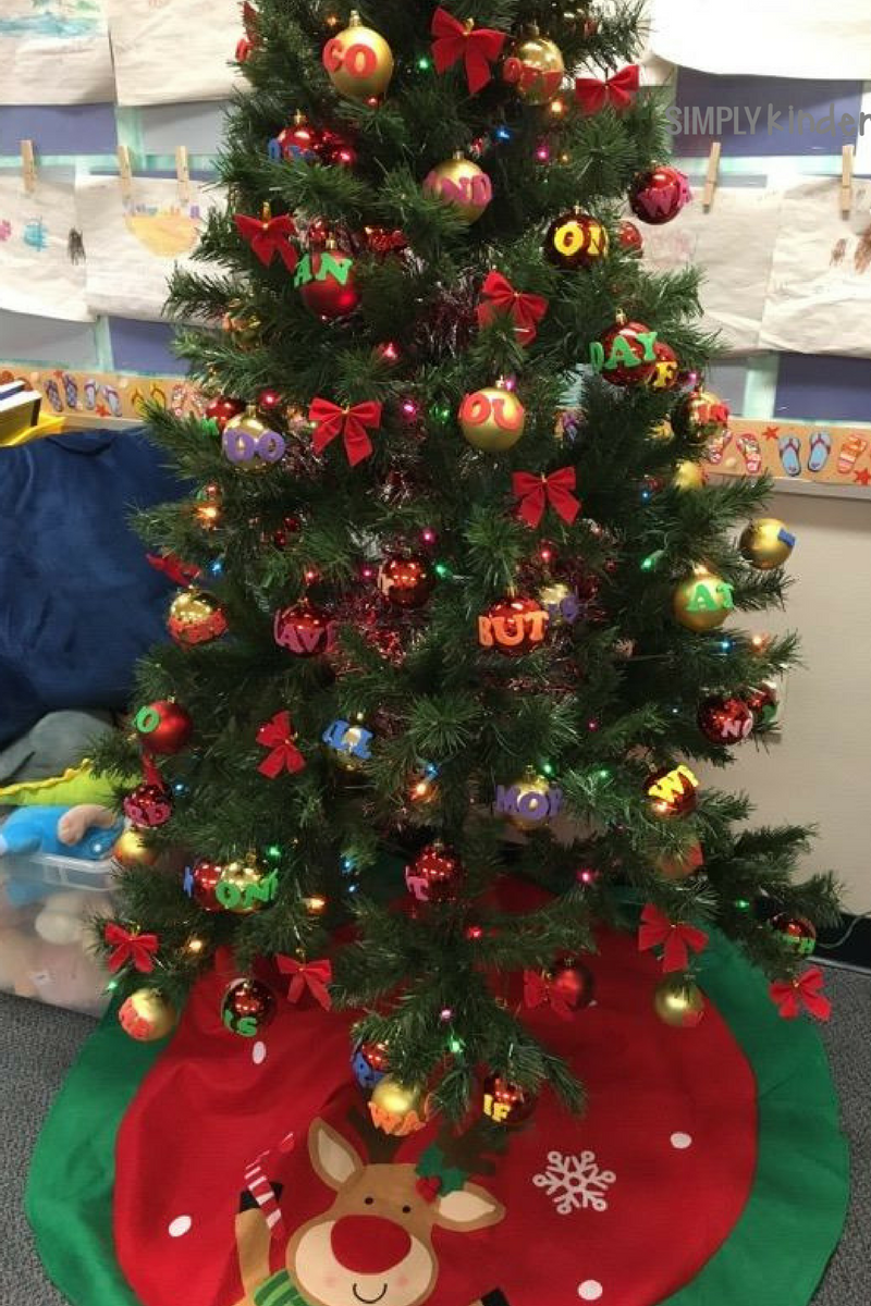 Free sight word ornament center from Simply Kinder.