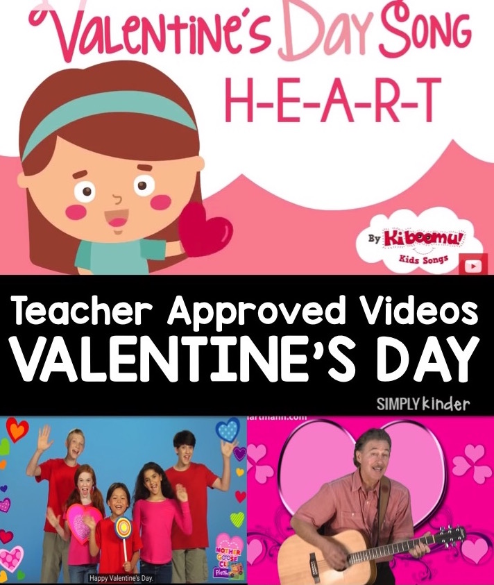 Teacher approved list of Valentine's Day videos for kids!