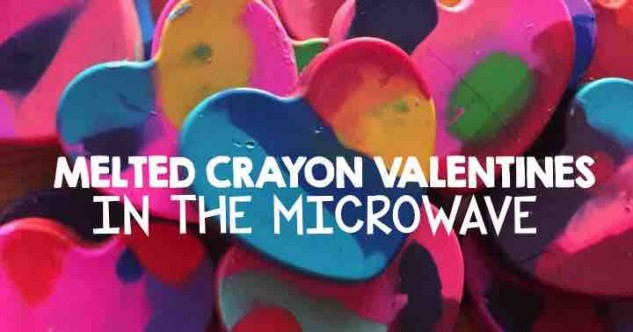 Microwave Melted Crayon Valentines