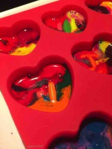 Melted Crayon Heart Valentines