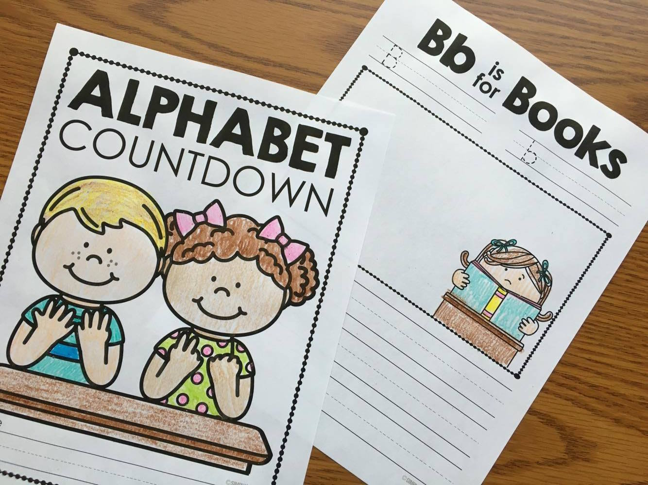 Alphabet Countdown activities and book.  Countdown the last days of school with this fun memory book.