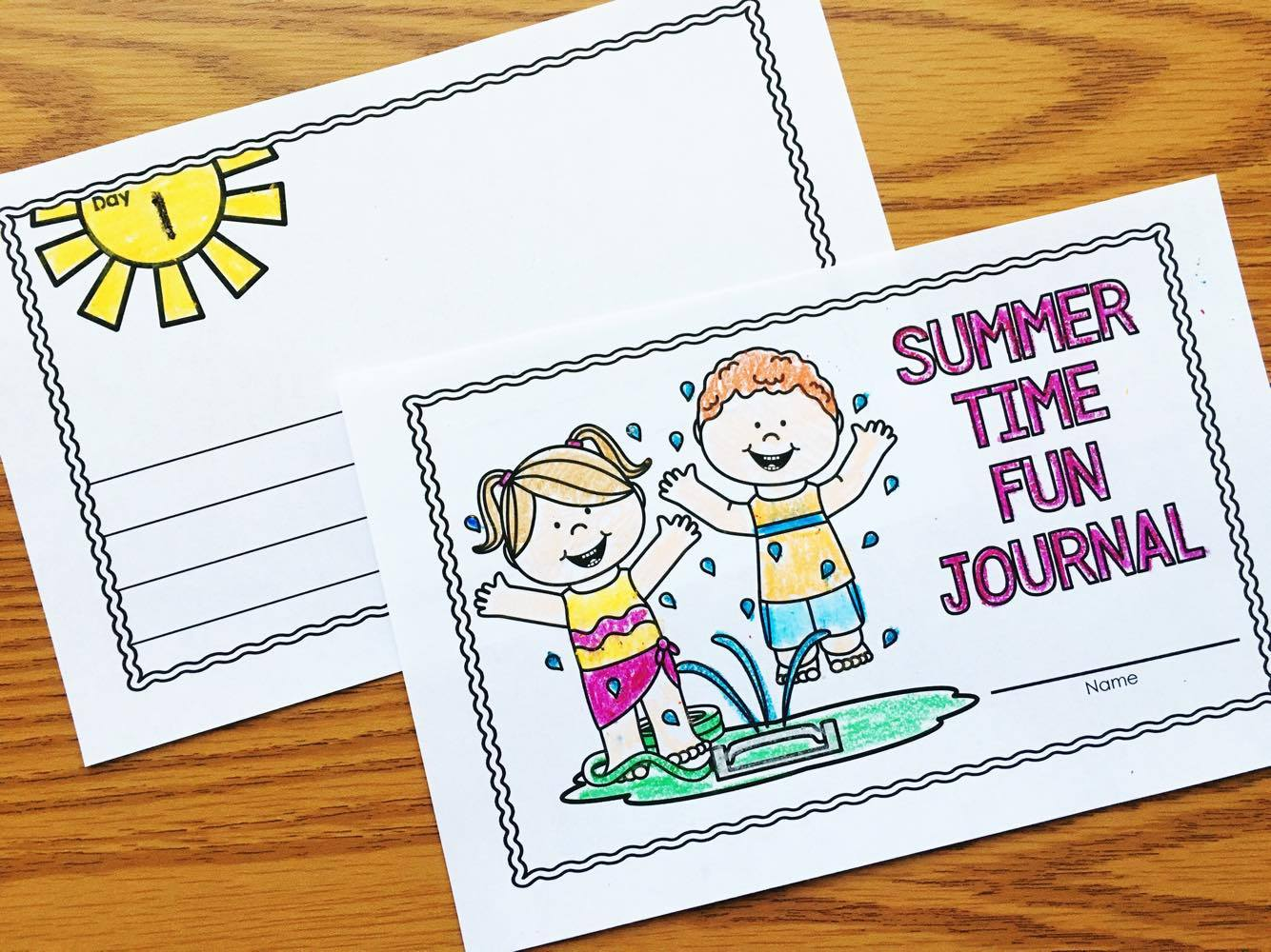 Free Summer Writing Journals