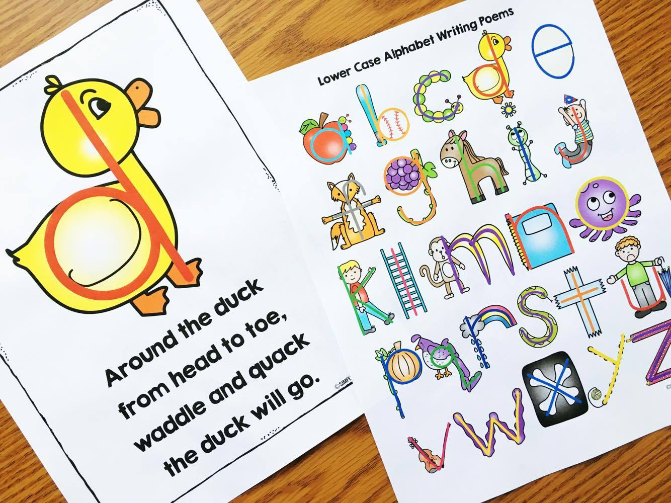 Alphabet Poems for Writing - Teach your students to write the letters correctly with these fun poems and matching printables.