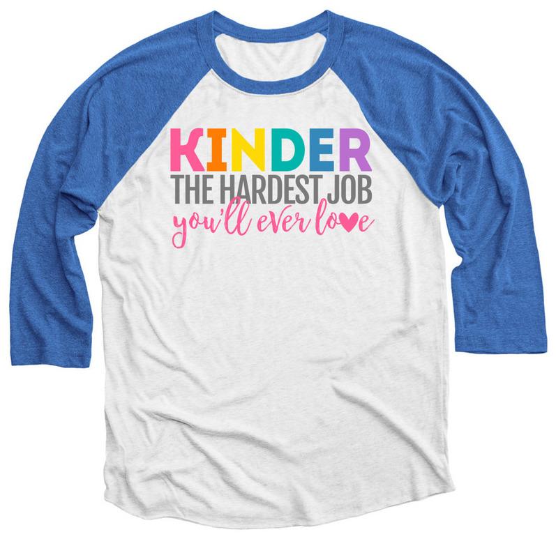 Kindergarten - The Hardest Job You'll Ever Love - Kindergarten teacher shirt from Simply Kinder