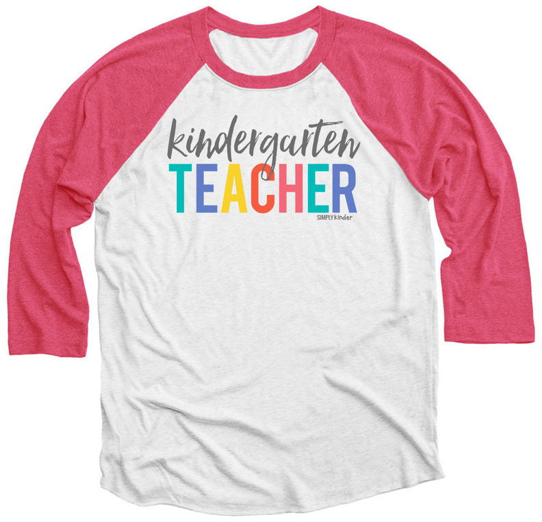 Show you love of teaching kindergarten with this fun Kindergarten Teacher Shirt from Simply Kinder.