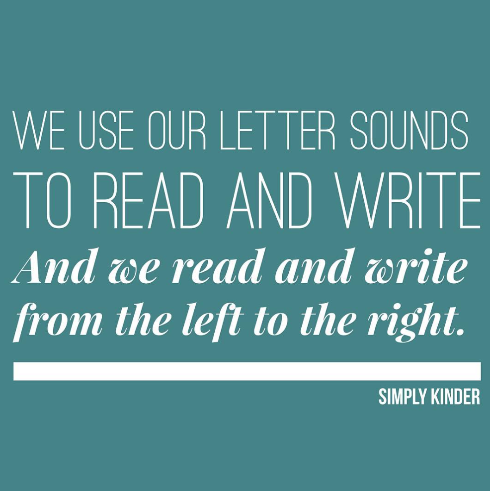 Kindergarten Memes- We use our letters to read and write, and we read and write from the left to the right.