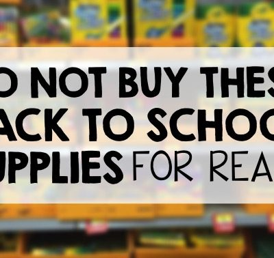 Do NOT Buy These Back to School Supplies (For Real)