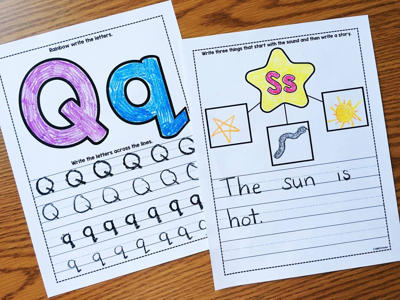 Alphabet Notebooks with Lower Case Alphabet Crafts and Printables