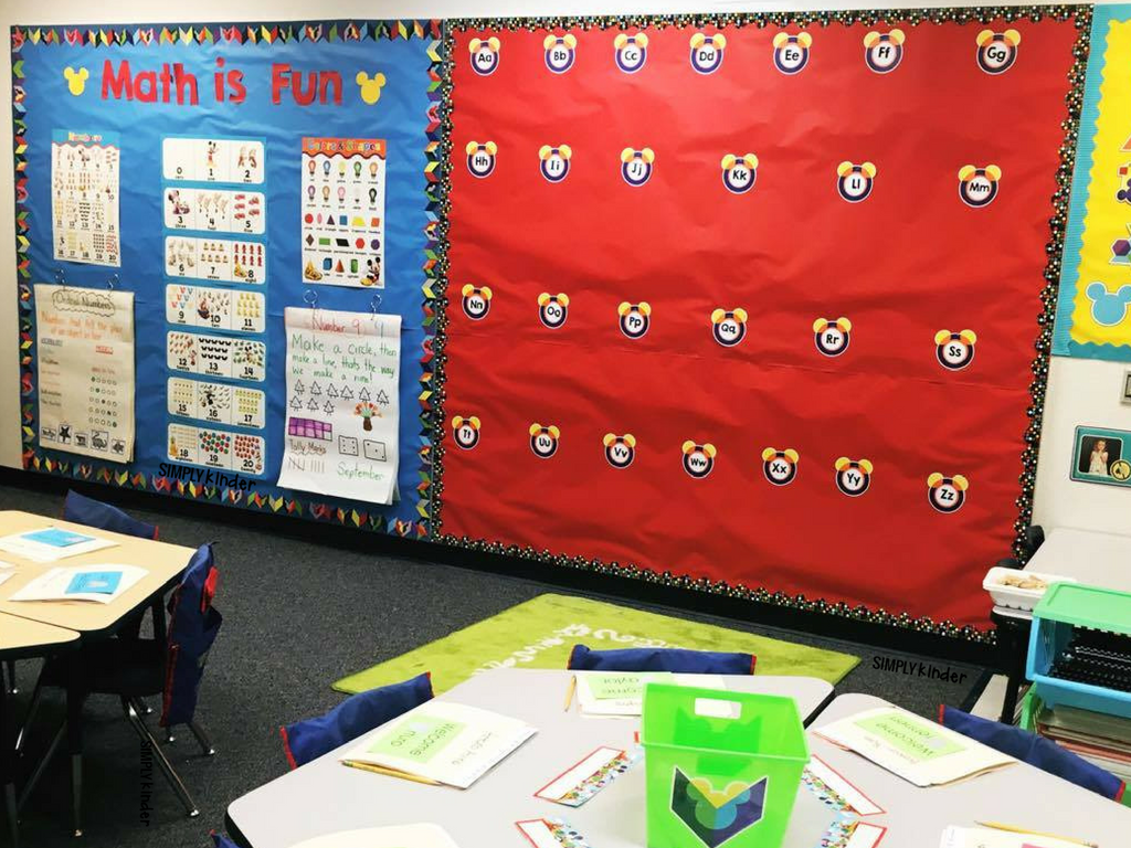 Wall Decor Set Up : Disney classroom decorations simply kinder