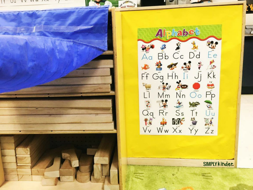 Hide things on your bookshelves with pocket charts. This is the perfect way to create some usable space as well as hide things you may not want the kids looking at while they are working.
