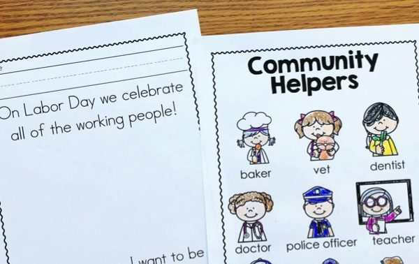 Labor Day for Kindergarten (Preschool and First too!)