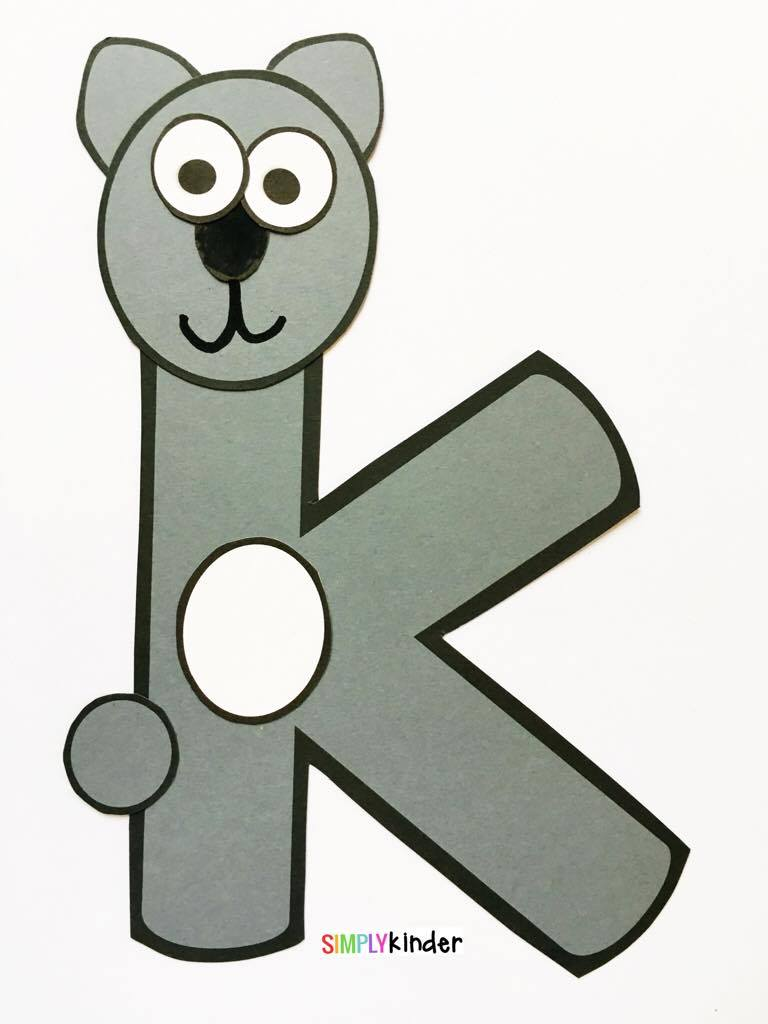 letter k crafts alphabet crafts printables notebooks simply kinder 22893 | k