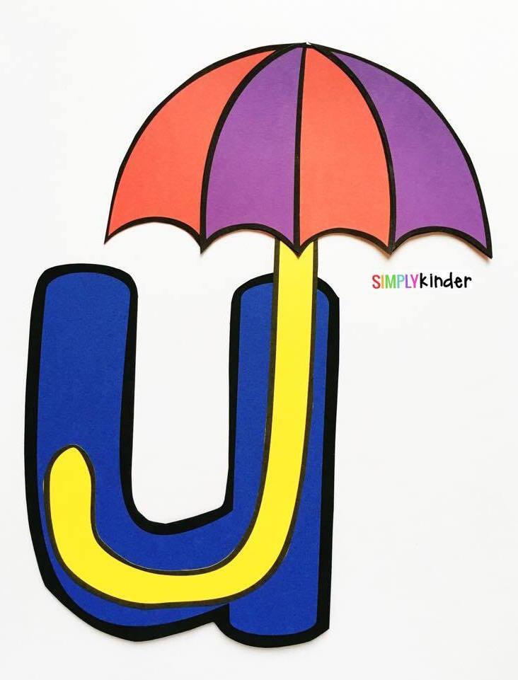 Alphabet Notebooks with Lower Case Alphabet Crafts and Printables - Letter U Alphabet Craft