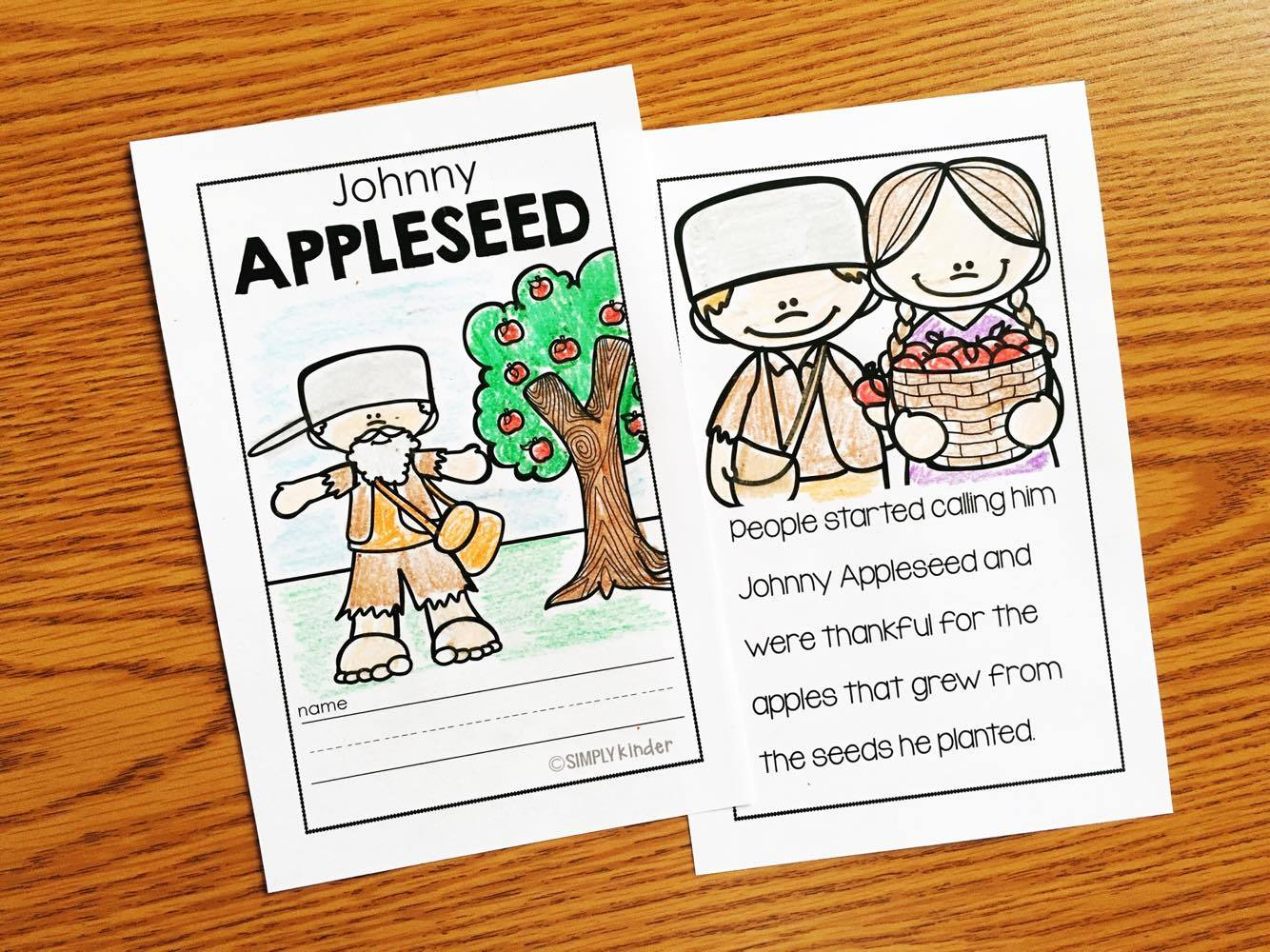 Johnny Appleseed Book for Kindergarten and First Grade