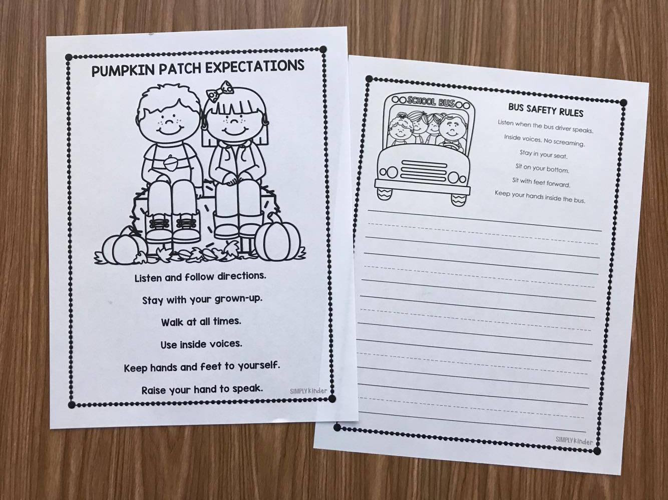Pumpkin Patch Field Trip Printables from Simply Kinder! Everything from permission slips to reflection activities. Your field trip will be organized and fun!
