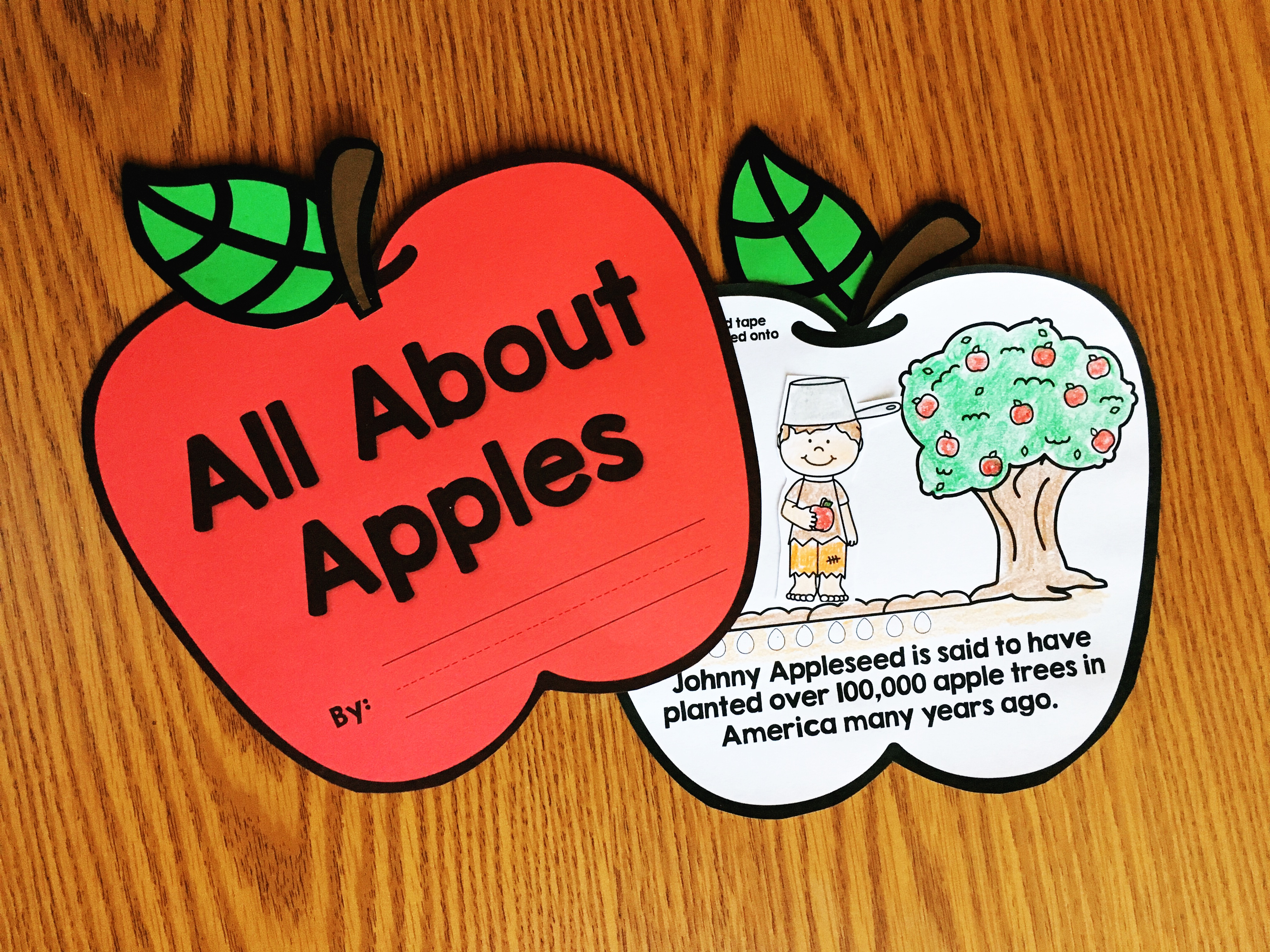 Learn all about apple life cycle with this fun interactive book from Simply Kinder. Each page has an activity to complete to reinforce the simple sentence! (You can also use without the interactive parts and just color in the pictures!) Perfect for preschool, kindergarten, and first grade students!