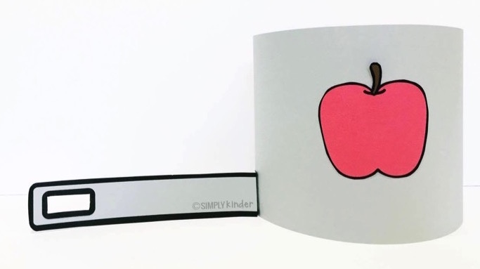 free Johnny Appleseed sentence strip hat