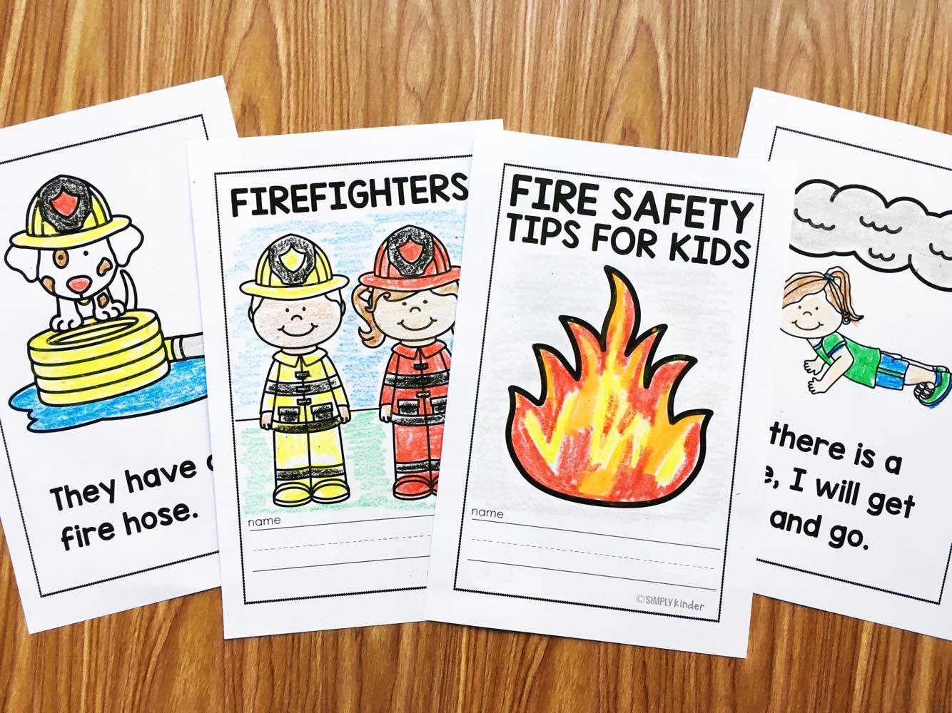 These fire safety books are perfect for your fire safety week  or your community helpers unit.
