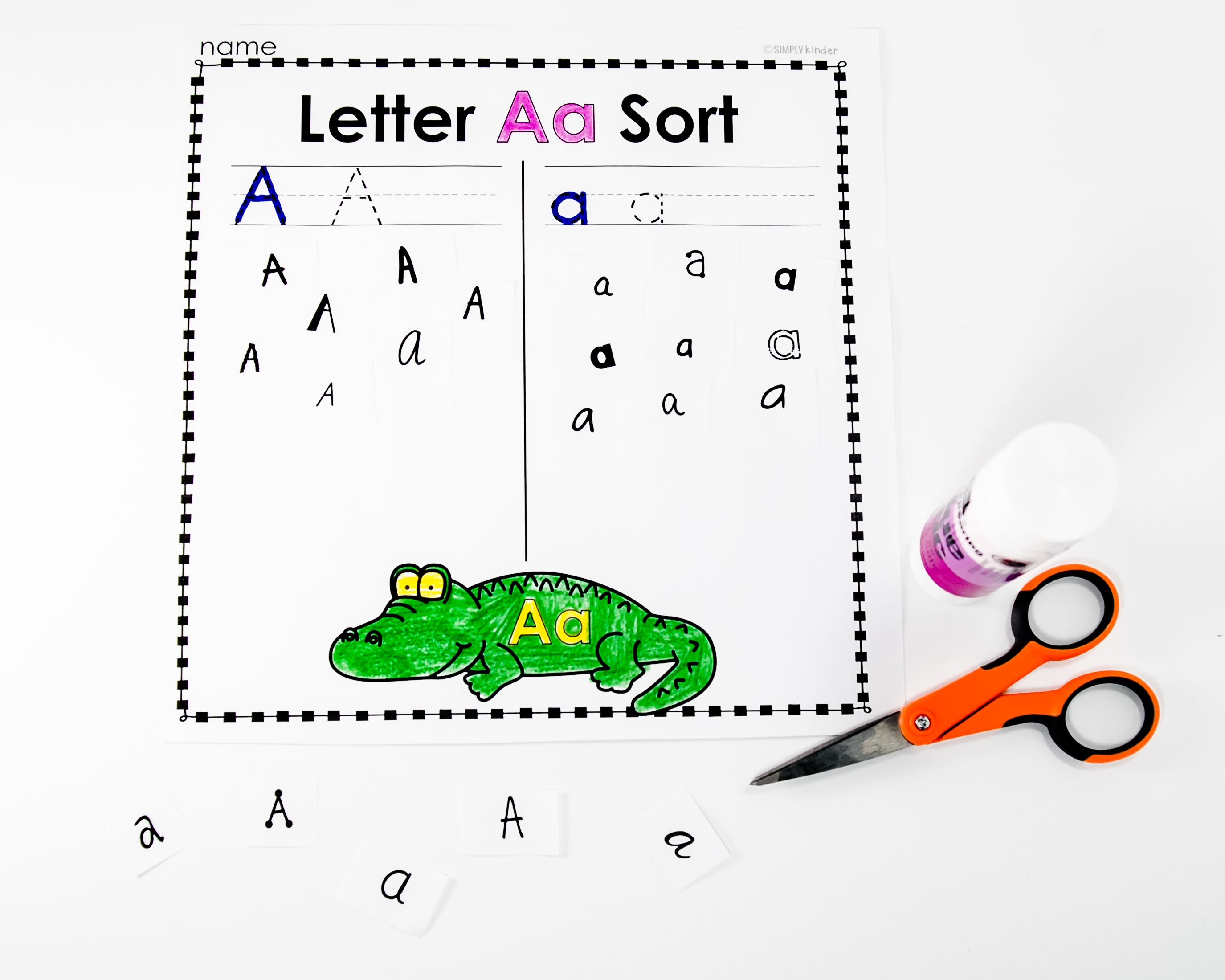 Free Kindergarten Activities And Worksheets on Blank English Sheets