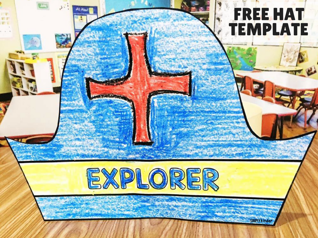 Kids will love creating this explorer hat and coming up wit their own explorer symbols.