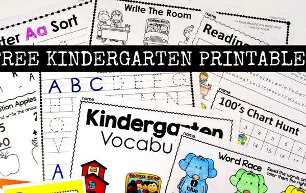 Free Kindergarten Activities and Worksheets
