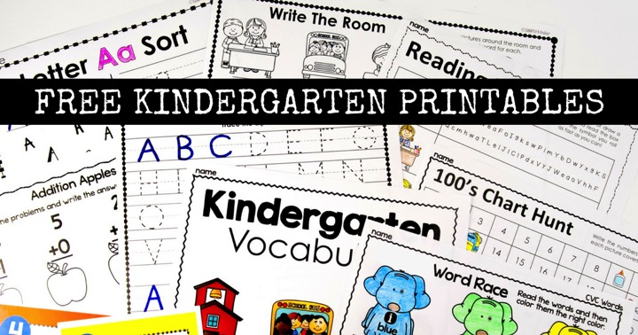 Free Kindergarten Activities and Worksheets
