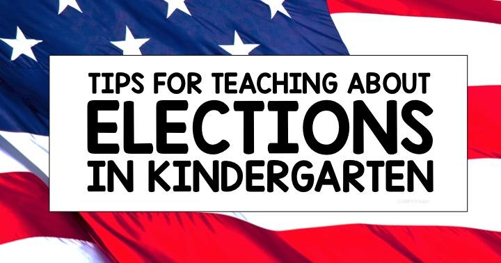 Election Day Activities for Kindergarten