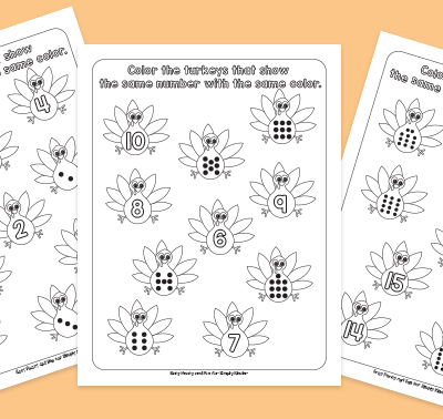 Turkey Counting Printables