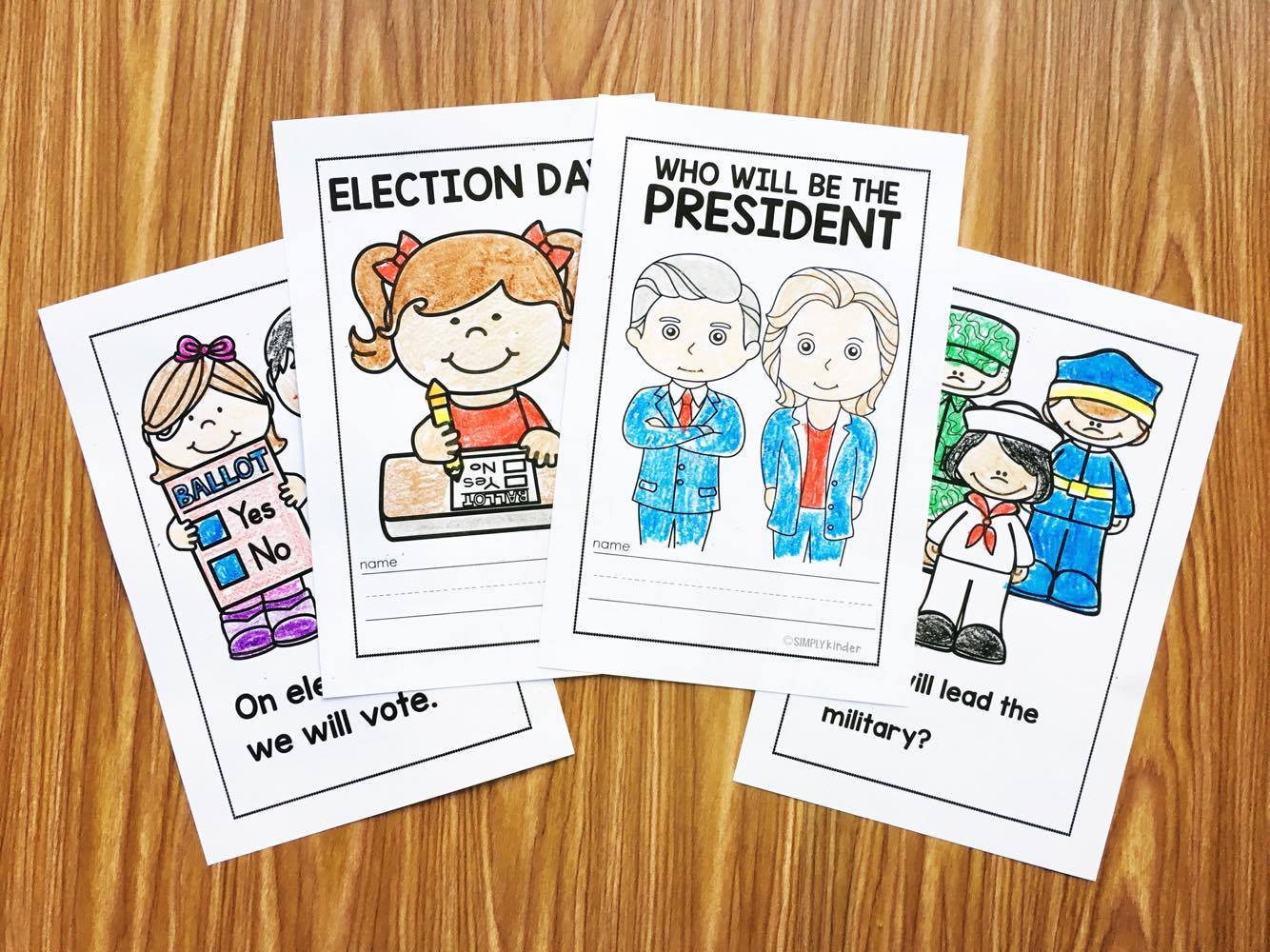 Election Readers for Preschool, Kindergarten, and First Grades. Easy to read sentences and appropriate content for little learners.