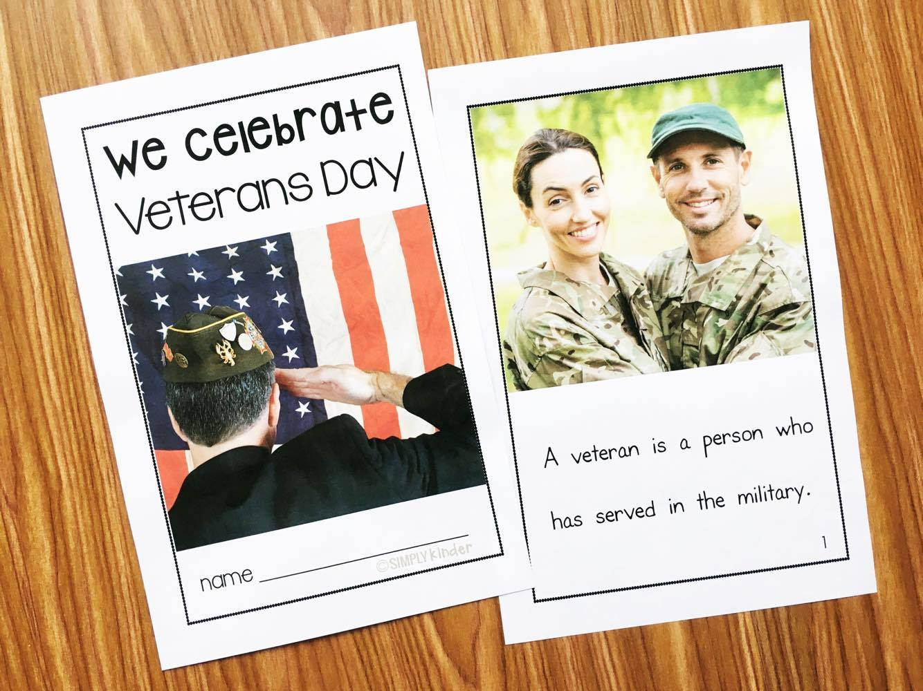 Veterans Day in Kindergarten   Simply Kinder Veterans Day Book for preschool  kindergarten  and first grades  Content is appropriate and