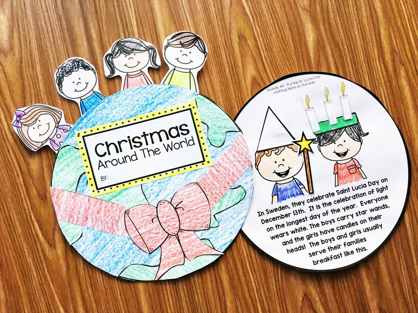 Christmas Around the World Interactive Reader - read about the country and then do the little activity to reinforce the traditions. Perfect for Kindergarten and first grade.