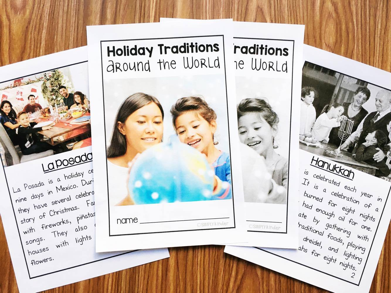 Christmas Around the World Nonfiction Book and Activities. Uses real photos to teach about the holidays. Perfect for Kindergarten and first grade.