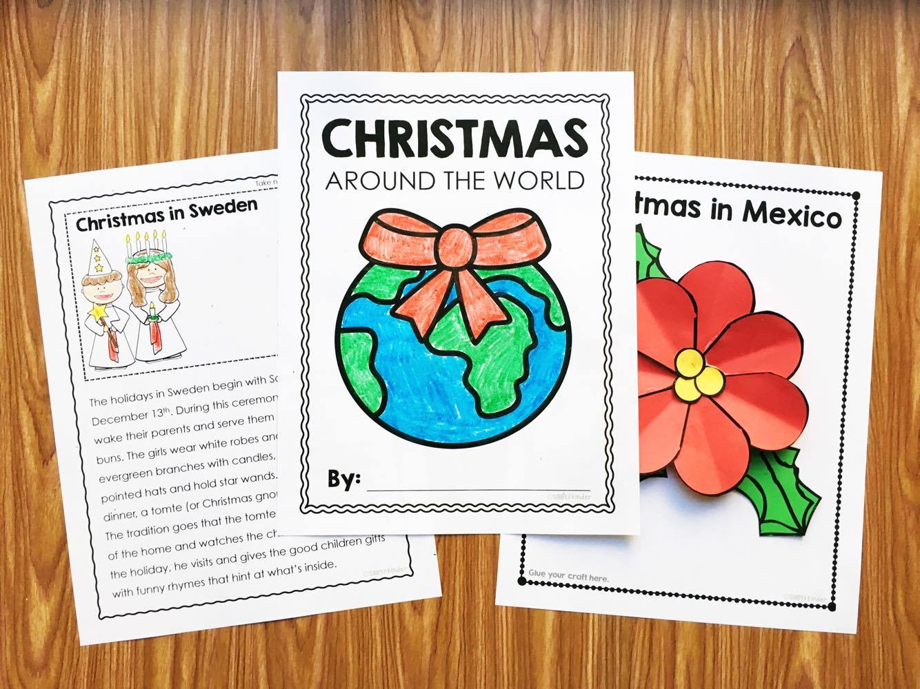 Christmas Around the World Research, Reports, and Crafts. You will be amazed at the stories your kiddos come up with when given the right kind of support. Perfect for Kindergarten and first grade.