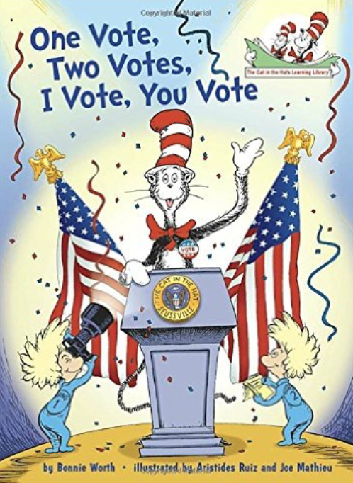 One Vote, Two Votes, I Vote, You Vote and other great election books for preschool, kindergarten, and first.