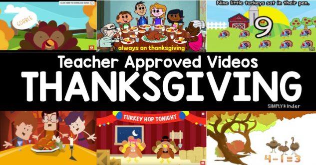 Teacher Approved Thanksgiving Videos