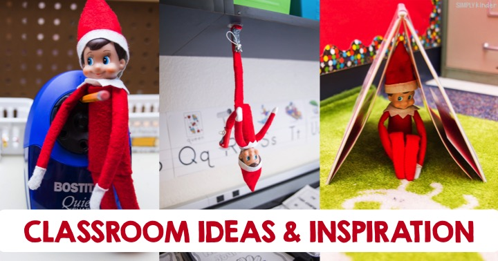 Elf on the Shelf Classroom Ideas and Inspiration using the Elves at Play set. Perfect for preschool, kindergarten, and first grades.