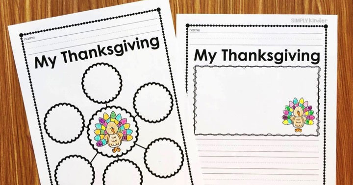Thanksgiving Reflection Activity