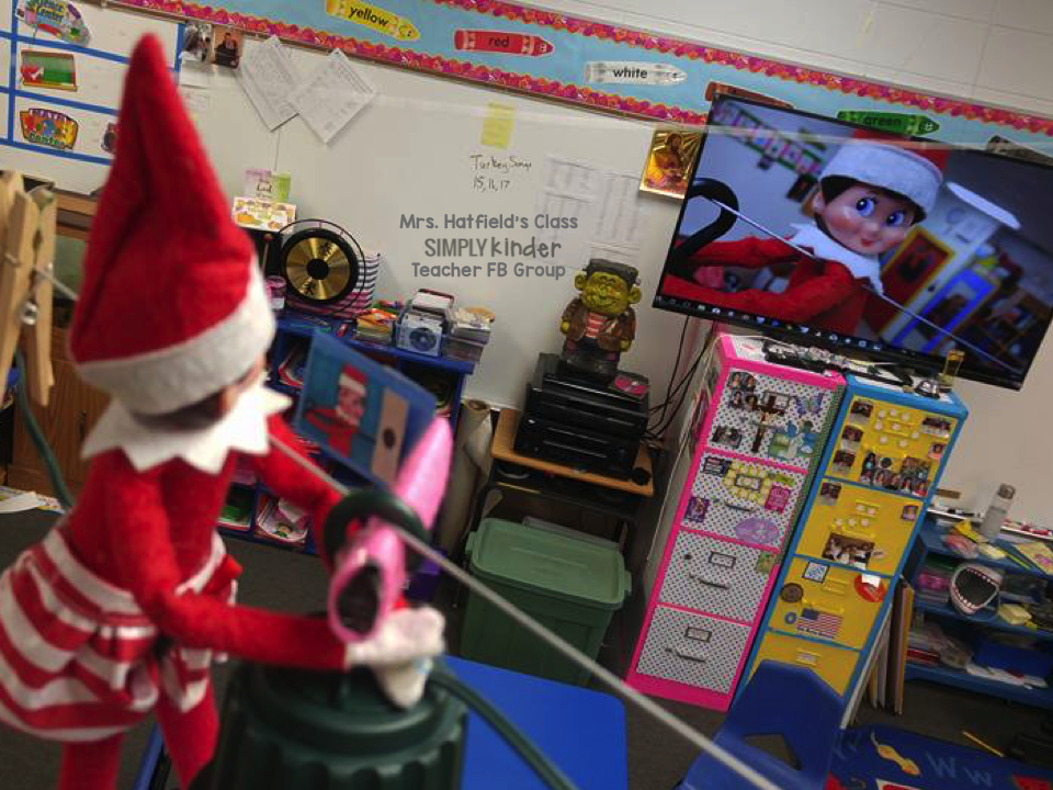 Elf on the Shelf Classroom Ideas from the teachers at Simply Kinder!