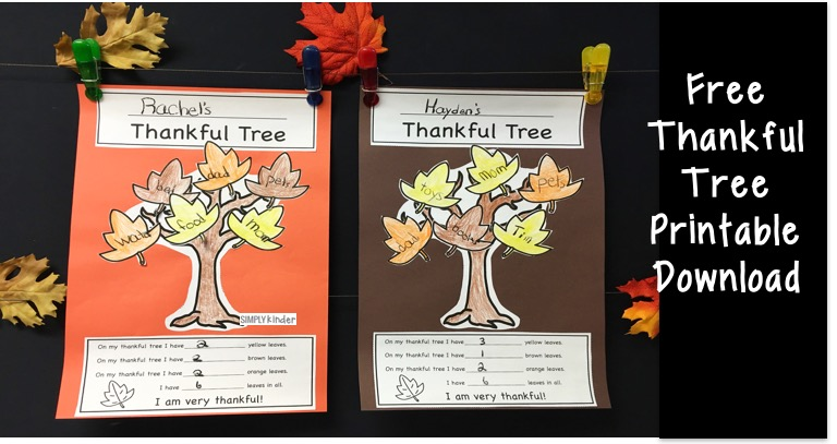 Thankful Tree Free Printable
