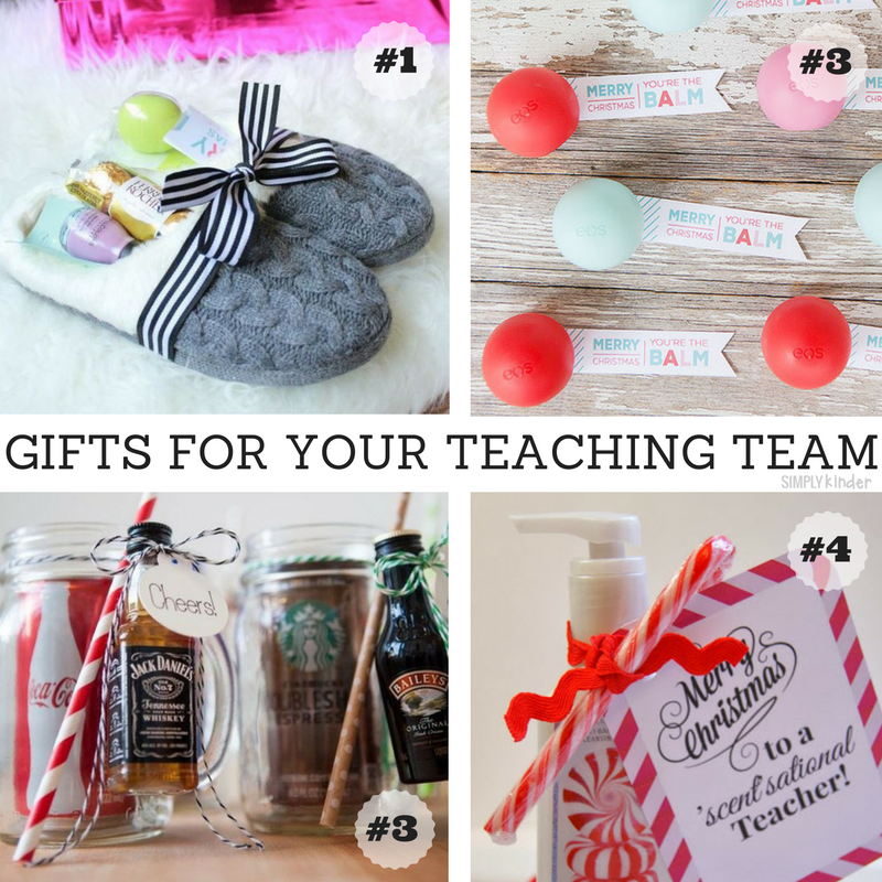 Easy Christmas Gifts for your Teaching Team.