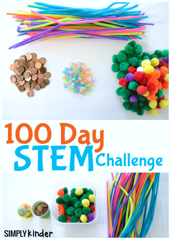 100th Day Stem Activity for Kindergarten and First Grade