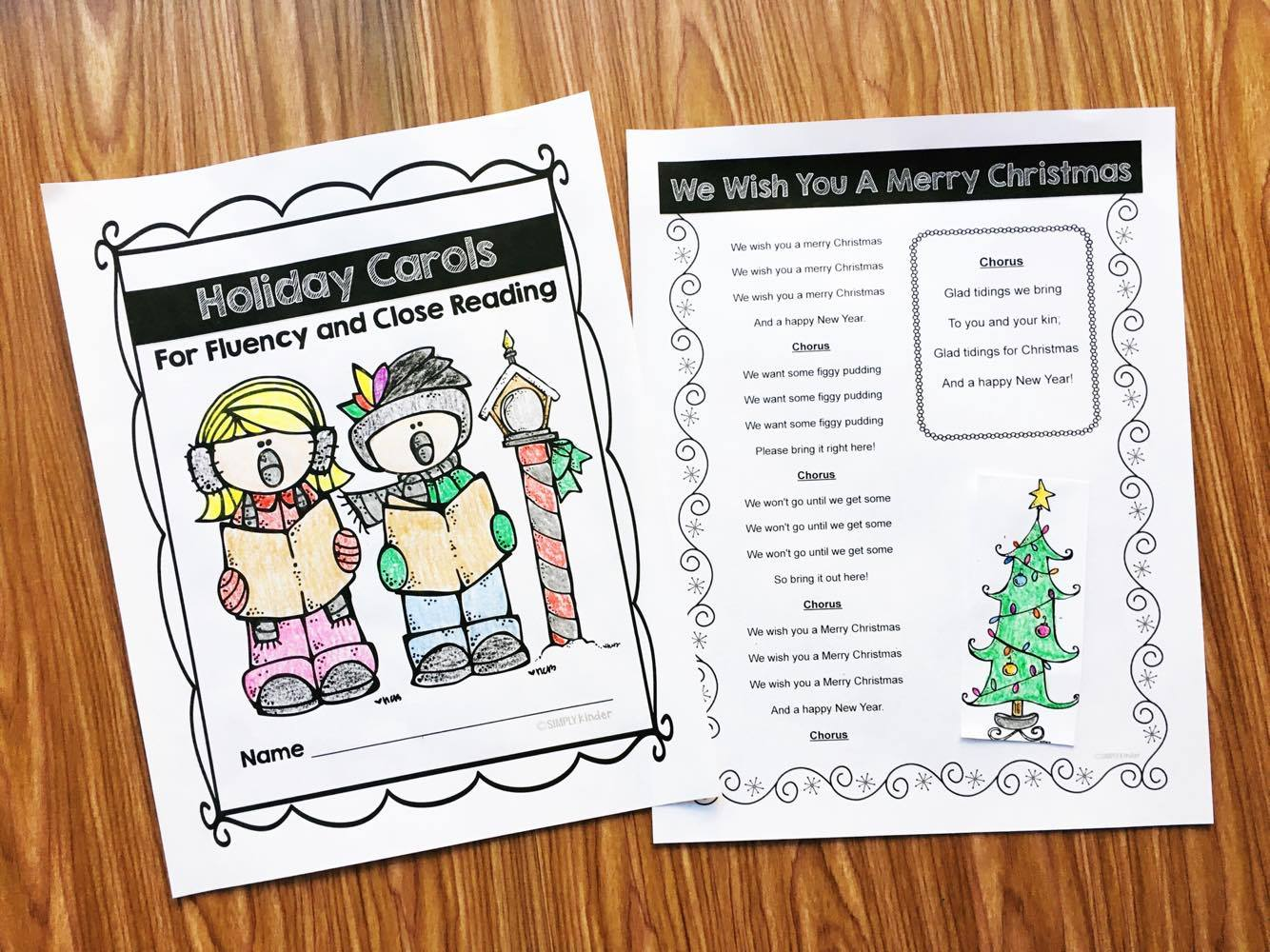 Christmas Carols for kids free download.  Students can read the lyrics to their favorite songs.