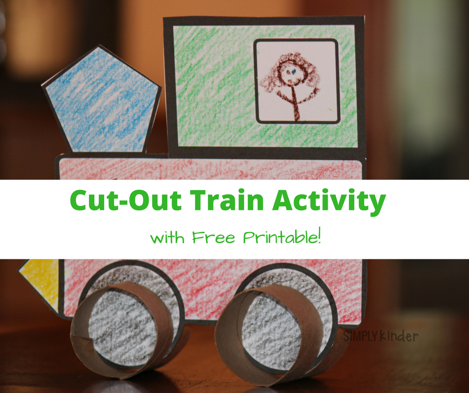 cut out train activity with free printable - polar express ideas