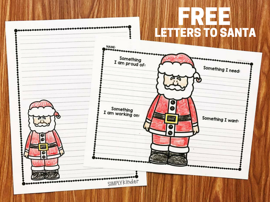 Free Letter To Santa Simply Kinder