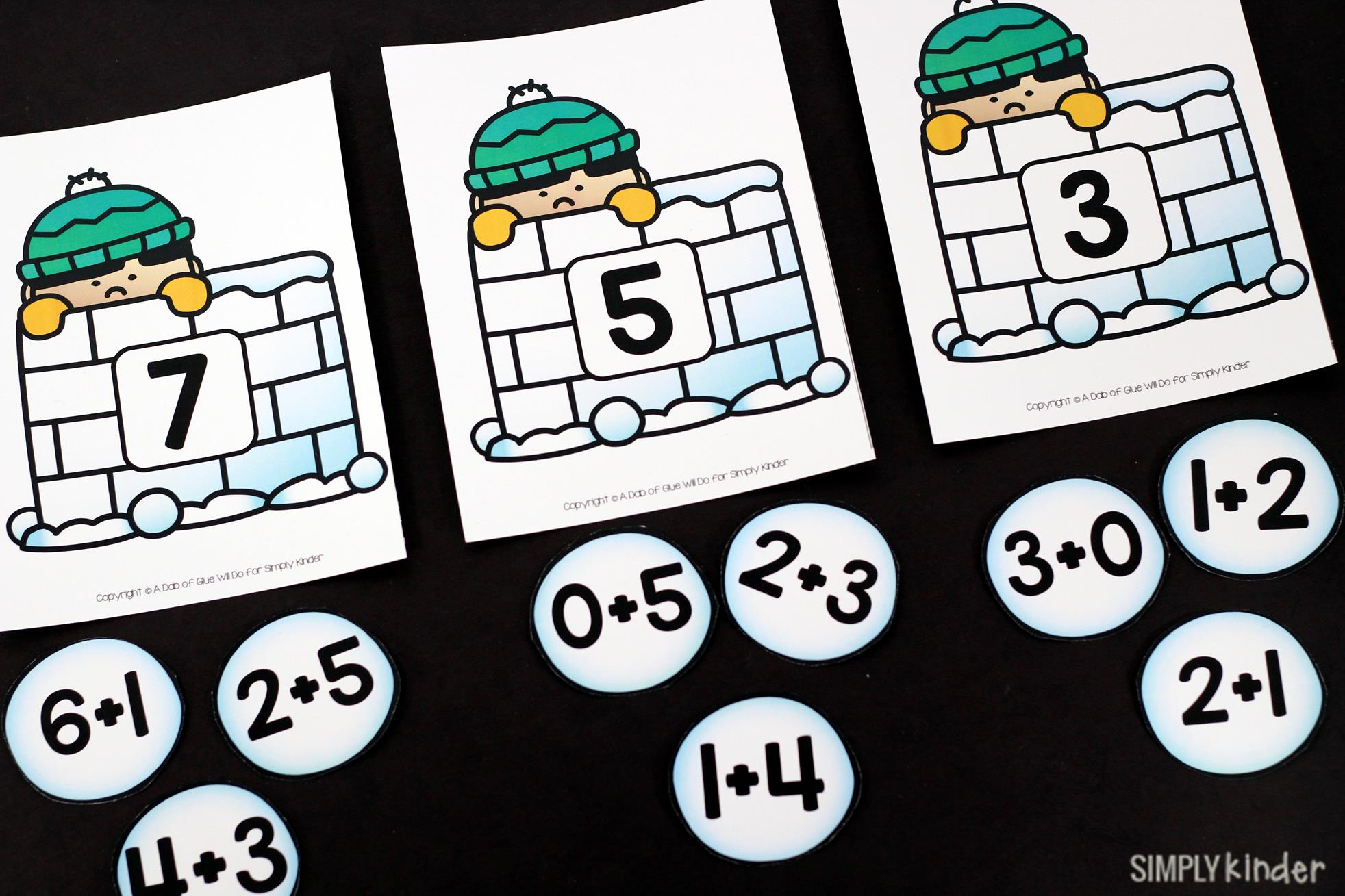 Snowball Addition Game - Simply Kinder