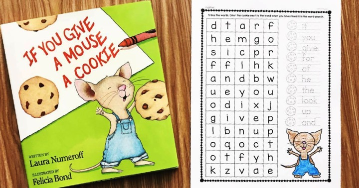 Mouse A Cookie Word Searches