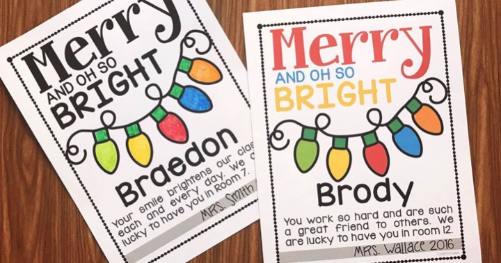 Merry And Oh So Bright Note Freebie